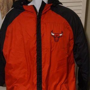 Mens NBA Bulls adidas Hooded Jacket Size L